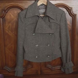 SPORTMAX Wool Alpaca Blend Trench Jacket Size 8/42